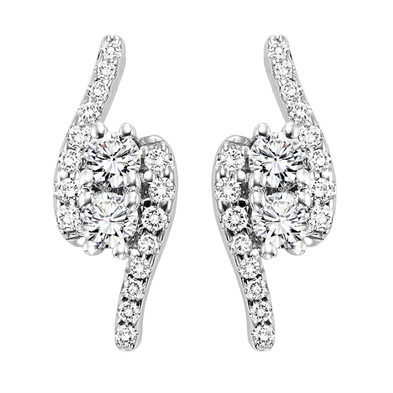 Diamond Earrings by Twogether